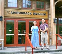 rob grant president of adirondacks with ann caroll director of public affairs adirondack museum